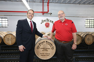 Kentucky Governor Matt Bevin and Master Distiller Fred Noe.