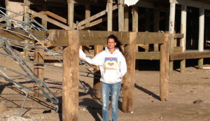 Lisa Konicki, Westerly Chamber of Commerce executive director, at the former site of Mermaid Snack Bar in 2012.