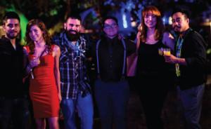 A group of CAPs. Ivan Avellaneda, Emily Burns, Dimitirios Zahariadis, Colin O'Neill, Gillian White and Tim Rita, Jr. Photo by Gabi Porter.