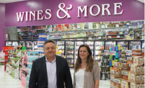 Andrew Annaldo, owner and Maureen Chakuroff, store manager.