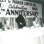 Julius Rosenberg, his wife, Lil, to his left at the company's 25th Anniversary in 1966.