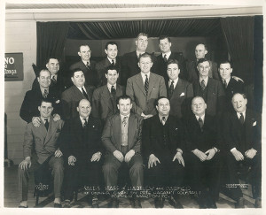 The Hartley & Parker sales force in 1942. Founder Julius Rosenberg is seated, third from left.