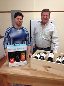 Latitude Beverage Co.'s Michael Munk, CT State Sales Manager, and Bob Lindblad, Vice President/Sales with the new products.