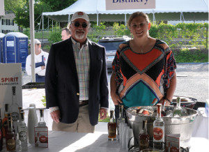 Phil Mancini, CT Manager, Artisanal Distributors and Erin Bell, Assistant Distiller/Business Manager, Silo Distillery.
