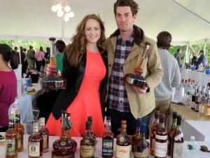 Jessica Paul, Opici Spirits Manager with Willett Bourbon products and Drew Kulsveen, Master Distiller, Willett Distillery.