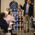 Josh Pearson, Absolut Brand Ambassador, educating CDI staff about Absolut products and its long history.