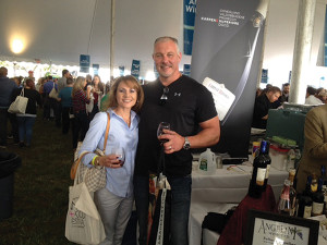 Angelini Wine enthusiasts, Adrienne and Eric Urpin.