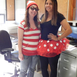 Alicia Gloersen, Human Resource Administrative Assistant and Dominque DeMayo, Receptionist.