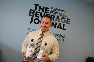 Tim Gurney, General Manager, Ace Distributing of Connecticut and Alpha Distributing of Rhode Island with Dutchcraft Vodka.