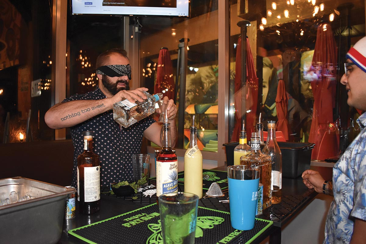 Chango Rosa Hosts Blindfolded Bartending Challenge