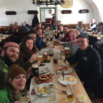 Two Roads Brewing Co. sales team during a lunch at Andech Monastery Brewery.