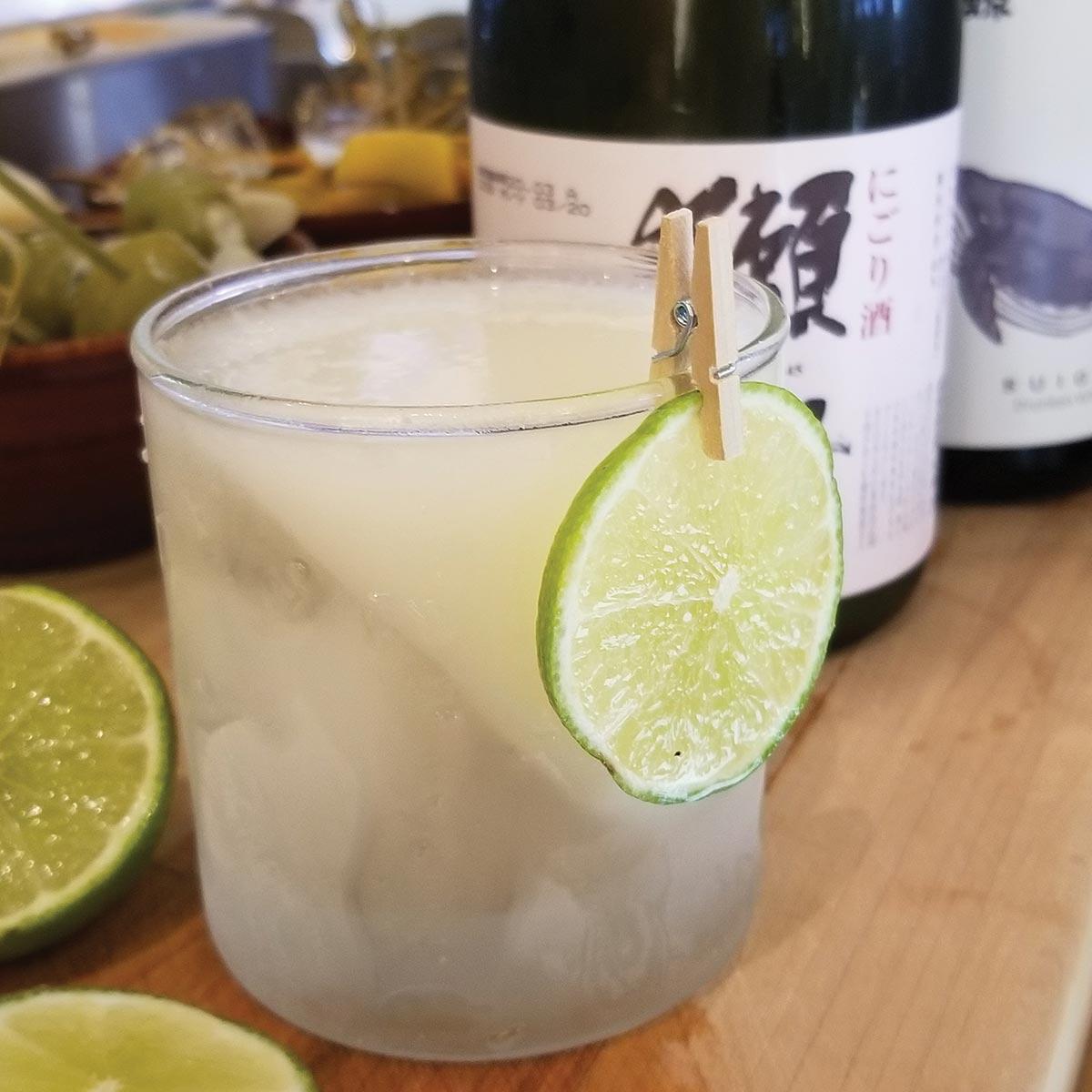 Serving Up: The Sake Gimlet at Arethusa al tavolo