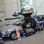 "The iconic DeLorean welcomed guests to Brescome Barton's ""Art of the Cocktail"" event."
