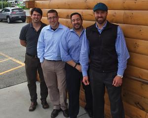 Christopher Martelly, Nathan Popinski, Joe Caprara and Rich Koeppen of Atlantic Importing & Distributing.