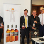 Frank LaTorra, Sales Manager, Hartley & Parker; Michael DePasqua, Beam Suntory CT Territory Manager; Simon Brooking, Beam Suntory Master Scotch Ambassador and Whisky magazine's Scotch Ambassador of the Year; and Jerry Rosenberg, President, Hartley & Parker Limited.