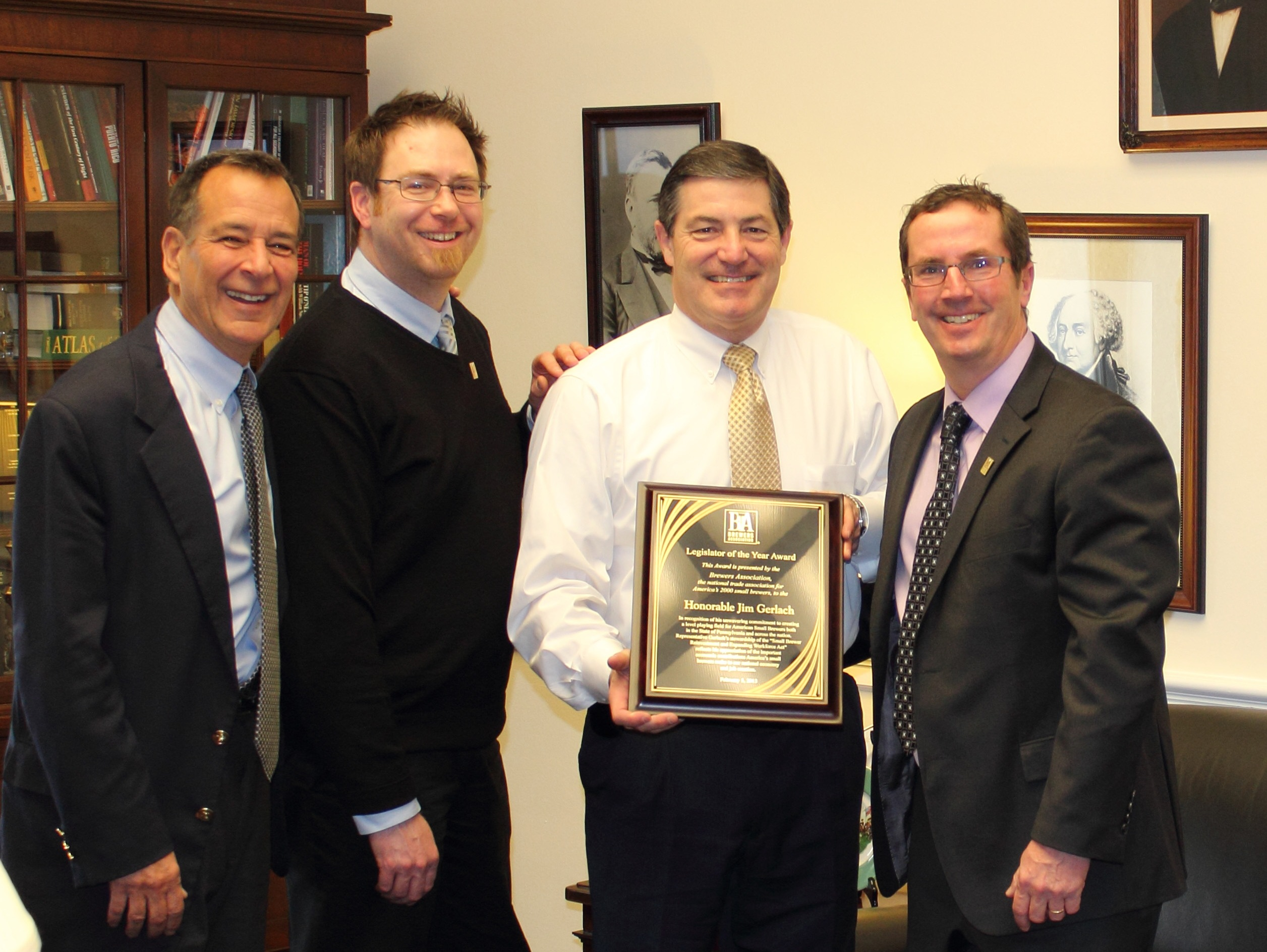 Brewers Association Honors Two Congressmen