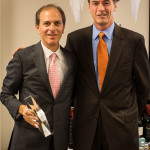 """Brian Albenze, President, CDI and Stephen Giles, Connecticut Sales Director, Diageo. CDI received the """"Innovation Excellence Award"""" from Diageo for Crown Royal Regal Rye products."""