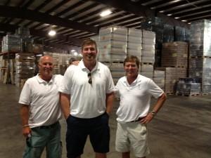 Owners Tom McGowan, Matt Light and Bill Dessel at Keel's Idaho distillery.
