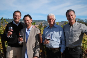 Wineworks Management Team (L-R) Sam Bronfman, Chairman; Jay Soloff, Vice President of National Sales; Bill Piersol, Senior Advisor of Marketing & Planning, Steve Cousins, President.