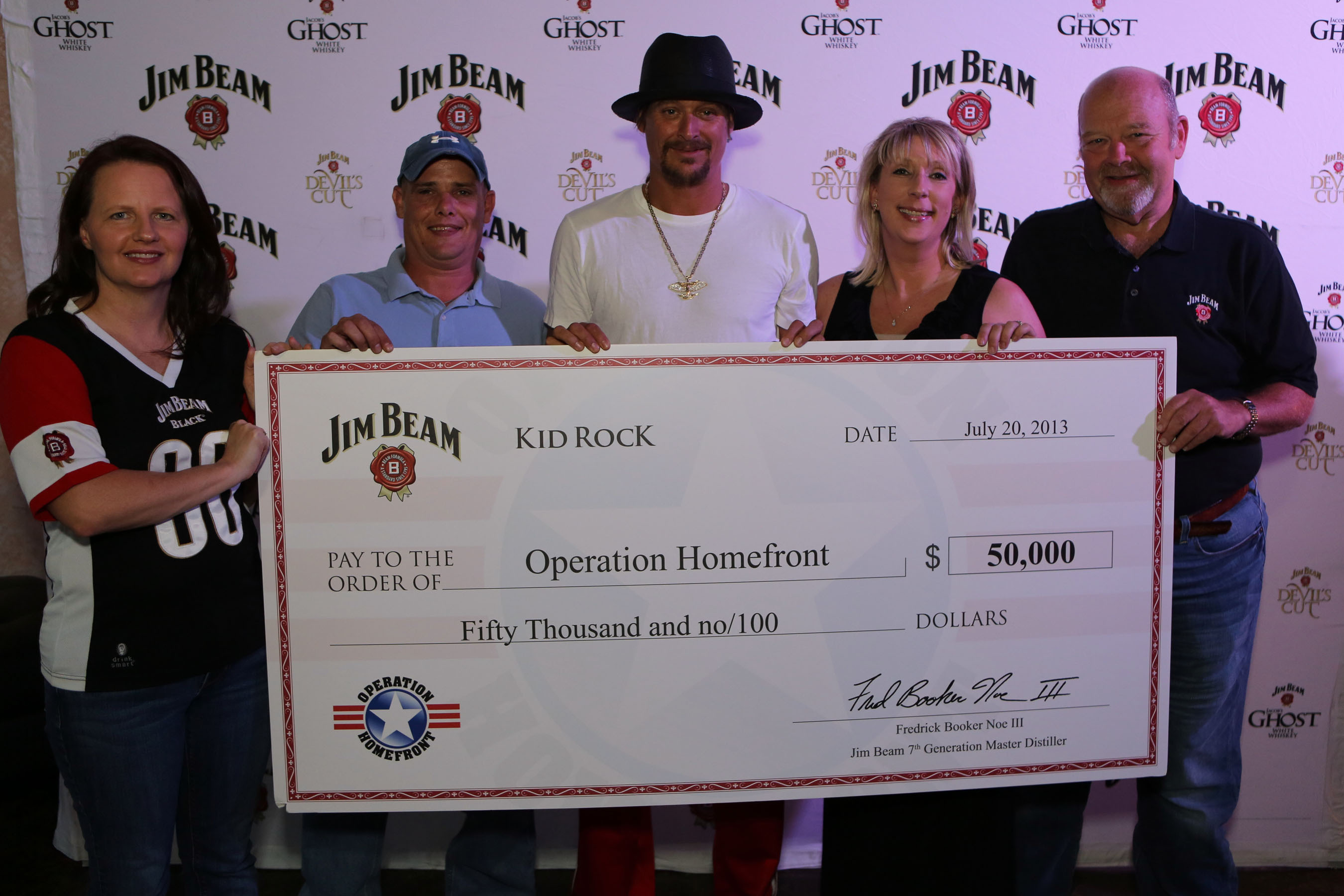 Beam Honors Military Families With Donation To Operation Homefront