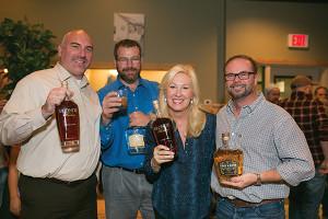 Jeff Conelius, Craft Spirit Manager, Allan S. Goodman; Adam Baker, Allan S. Goodman; Troy Ball, Distiller, Troy & Sons Whiskey; Sean Ditson, Co-Owner, Cure.