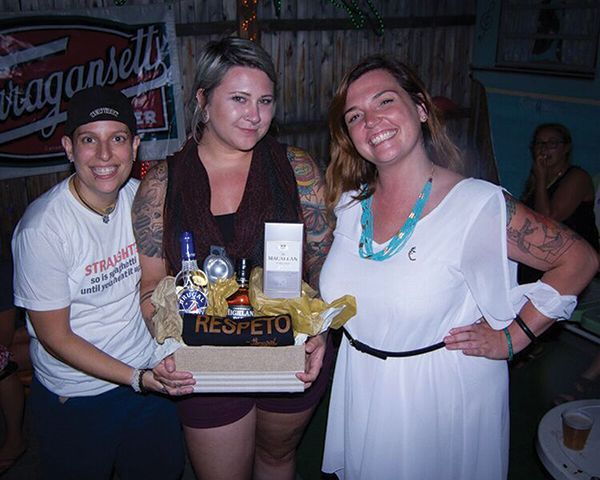Kristi Little and Sam Royds of Gracie's were named first place winners, pictured here with Kayleigh Speck, Brand Activator, Edrington Americas.