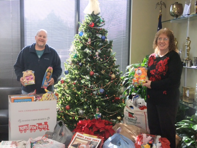 AROUND TOWN: Brescome Barton Rounds up Toys, For Tots