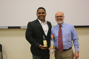 David Cid, brand master for the House of Rum at Bacardi, USA, leads the brand's educational campaigns, shown with University of New Haven adjunct professor and CDI's director of learning and development, Greg Alitieri at a recent UNH event.