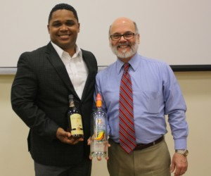 David Cid, brand master for the House of Rum at Bacardi USA, leads the brand's educational campaigns, shown with University of New Haven adjunct professor and CDI's director of learning and development, Greg Altieri at a recent UNH event.