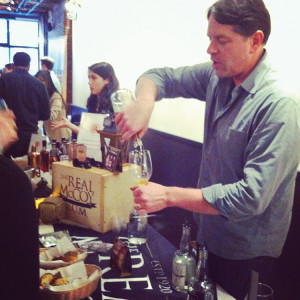 Bailey Pryor, CEO and President of Real McCoy Spirits, Corp. at Rum for All's tasting and seminar.