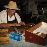 Hand-rolled cigars accompanied The Balvenie and Glenfiddich selections.
