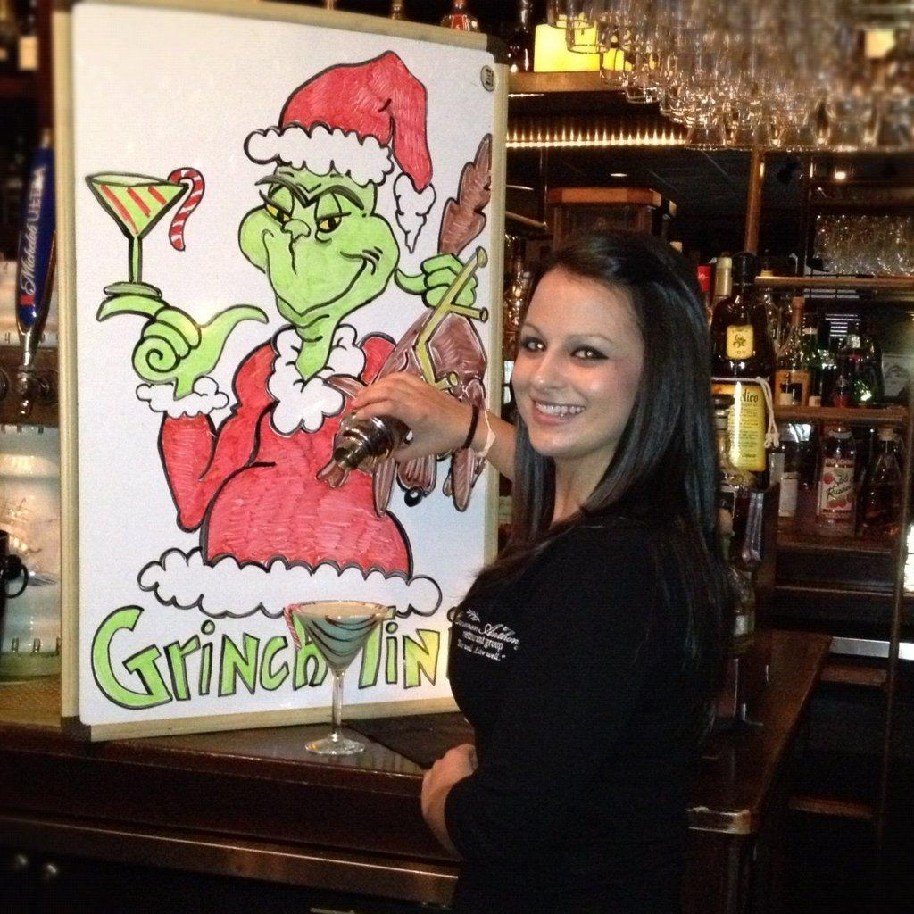 Serving Up: Carmen Anthony's Grinch-tini