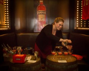 Hannah Welans of jm Curley in Boston also created cocktails featuring Campari products during the Spirited Dinner on February 6.