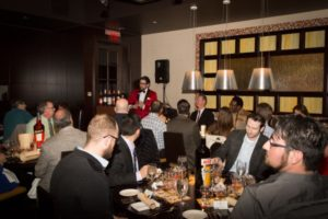 Nick Korn, Italian Spirits Specialist of Campari America led guests through the Spirited Dinner at Fred and Steve's Steakhouse.