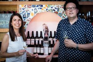 Steve Wynn of Wine Bros. and Cristina Recio Galiana, Export Manager, Aecovi Jerez
