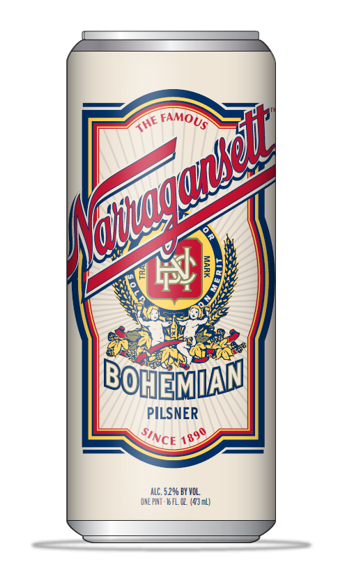 Narragansett Beer Offers Bohemian Pils in Cans and on Draft