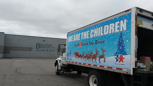 "Brescome Barton and We Are the Children held a ""Stuff a Truck"" Toy Drive"