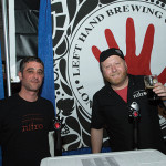 Craft Beer Guild of RI's Eric Schwartz, Sales Rep., and Shaun Daniels, Sales Supervisor, pouring for Colorado's Left Hand Brewing Company. Rhode Island Brew Fest 2016.