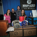 All from Whaler's Brewing Company in Wakefield, RI: Courtney Zink; Wesley Staschke, Co-owner and Brewer; Josh Dunlap, Co-owner and Brewer; Nicole Anderson. Rhode Island Brew Fest 2016.