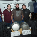 All of Foolproof Brewing Company of Pawtucket, RI: Steve Sharp, Head Brewer; Kris Cumming, Sales Manager; and Nick Garrison, President and Founder. Rhode Island Brew Fest 2016.