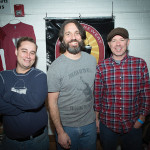All of Bucket Brewery from Pawtucket, RI: Peter Larrivee, Sales Manager; Nate Broomfield, Founder and President; and Drew Powers, Founder. Rhode Island Brew Fest 2016.