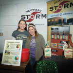 Clare Simpson-Daniel, PR and Events Captain, and Keiko Gammel, Events, of Newport Storm Brewery in Newport, RI. Rhode Island Brew Fest 2016.