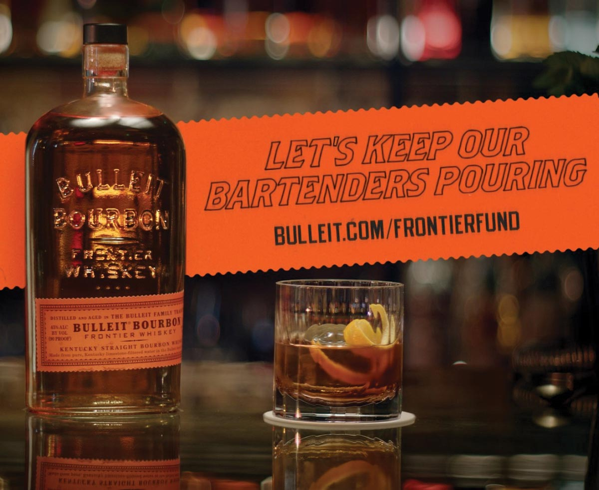 Bulleit Frontier Whiskey Launches Industry Relief Fund