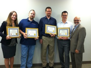 Left to right are CDI's Tammy Hengen, Rich Regan, Mike Copeland, Bryon Thayer and instructor, Greg Altieri, Director of Learning and Development, CSW.