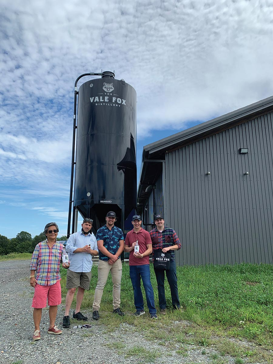 Craft Beer Guild Distributing Visits Vale Fox Distillery
