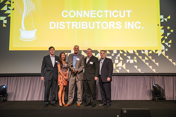 Connecticut Distributors, Inc. Awarded for Excellence by Diageo