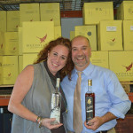Jacey Haskell, Marketing Representative, Cellar Fine Wines with Jeff Sharp, Consultant, Cellar Fine Wines.