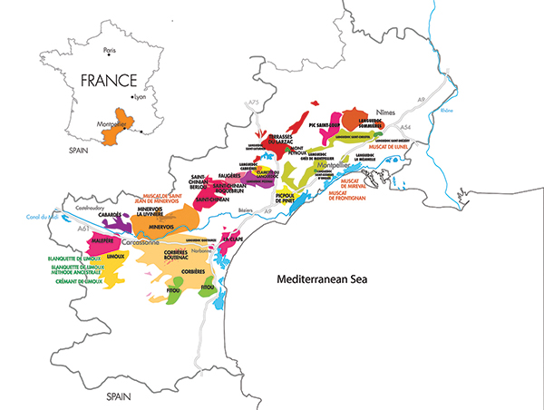 U.S. Imports of Languedoc Wines Show Gains
