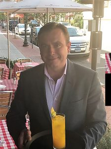 Ian Toogood, Sommelier, with the Vincenzo Gambi cocktail.