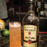 A cocktail creation featuring Bacardi Rum 8 Años Reserva Superio.